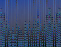 Blauwe neonachtergrond Stock Fotografie