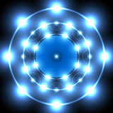Blauwe neoncirkel Royalty-vrije Stock Foto's