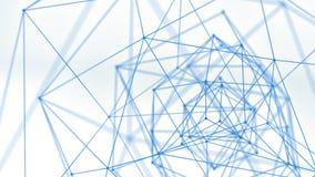Blauwe netwerkvorm De abstracte 3d technologie geeft terug Royalty-vrije Stock Afbeelding