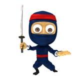 Blauwe ninja stelt Royalty-vrije Stock Foto