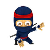 Blauwe ninja stelt Royalty-vrije Stock Afbeelding
