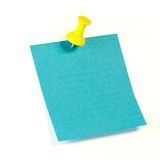 Blauwe nota Stock Afbeelding
