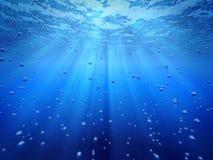 Blauwe oceaan onderwater vector illustratie