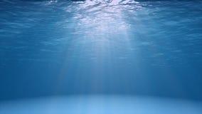 Blauwe oceaandieoppervlakte van onderwater wordt gezien Stock Foto