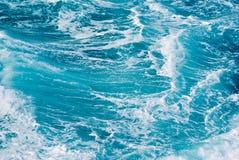 blauwe Oceaangolvenachtergrond Royalty-vrije Stock Afbeeldingen