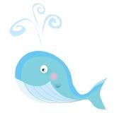Blauwe oceaanwalvis vector illustratie