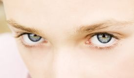 Blauwe ogen stock foto's