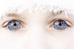Blauwe ogen buiten royalty-vrije stock foto's