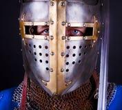 Blauwe ogen van ridder Stock Afbeelding