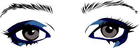 Blauwe ogenmake-up Royalty-vrije Stock Afbeeldingen