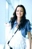 Blauwe ogenvrouwen royalty-vrije stock foto's