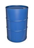 Blauwe olietrommel Royalty-vrije Stock Afbeeldingen