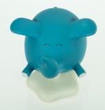 blauwe olifant, de vliegende doos van olifantsmusice Stock Afbeelding