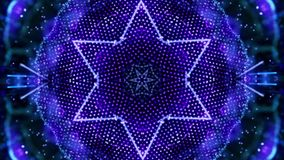 Blauwe omwentelings abstracte die achtergrond uit vele kleine elementen wordt samengesteld vector illustratie