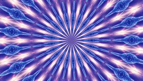 Blauwe omwentelings abstracte die achtergrond uit vele kleine elementen 2 wordt samengesteld stock illustratie