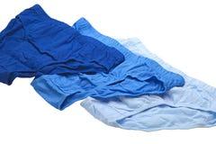 Blauwe onderbroek Royalty-vrije Stock Foto's