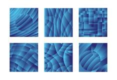 Blauwe ontwerppatronen royalty-vrije illustratie