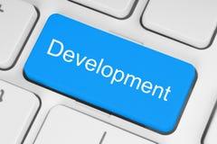 Blauwe ontwikkelingsknoop Stock Afbeelding