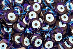 Blauwe oogamuletten, Turkije Royalty-vrije Stock Fotografie