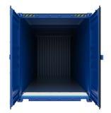 Blauwe open verschepende container Royalty-vrije Stock Afbeelding
