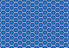 Blauwe optische illusie royalty-vrije stock foto