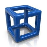 Blauwe optische illusie stock illustratie