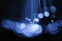 Blauwe opvlammende lichten Stock Afbeeldingen