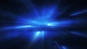 Blauwe opvlammende lichten abstracte achtergrond Stock Afbeelding