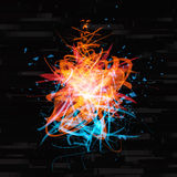 Blauwe & oranje abstracte futuristische achtergrond Royalty-vrije Stock Foto's