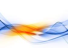 Blauwe oranje golf Royalty-vrije Stock Afbeelding
