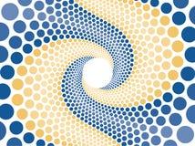 Blauwe oranje wervelingssamenvatting stock illustratie