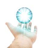 Blauwe Orb Hand royalty-vrije illustratie