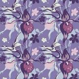 Blauwe orchideeëntextuur Stock Afbeelding
