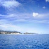 blauwe overzees en perfecte hemel Royalty-vrije Stock Afbeelding