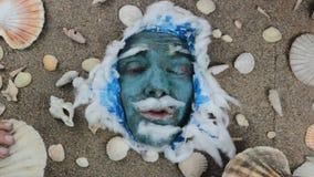 Blauwe overzeese Koningskammosselen stock video
