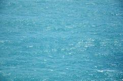 Blauwe overzeese textuurachtergrond Royalty-vrije Stock Foto's