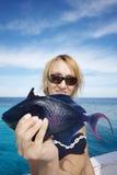 Blauwe overzeese vissen Royalty-vrije Stock Fotografie