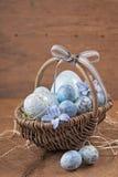 Blauwe paaseieren Royalty-vrije Stock Foto