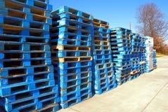 Blauwe paletten Stock Foto