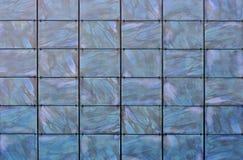 Blauwe paneelachtergrond Stock Foto