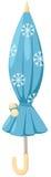 Blauwe paraplu royalty-vrije illustratie