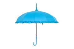 Blauwe paraplu Stock Foto