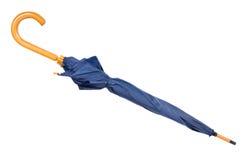 Blauwe paraplu stock afbeeldingen