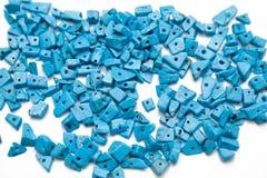 Blauwe parels Stock Foto's