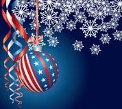 Blauwe Patriottische Kerstmis Royalty-vrije Stock Foto's