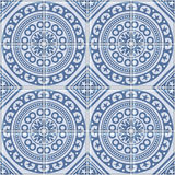 Blauwe Patroon van de Azulejo het Naadloze Portugese Tegel Vector Royalty-vrije Stock Foto