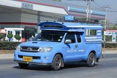 Blauwe Pick-uptaxi Lamphun Stock Foto's