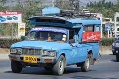Blauwe Pick-uptaxi Lamphun Stock Afbeeldingen