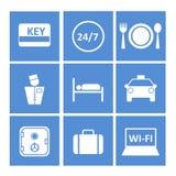 Blauwe pictogrammen voor de website Stock Afbeelding