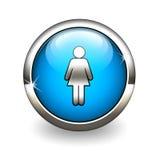 Blauwe pictogramvrouwen Royalty-vrije Stock Foto